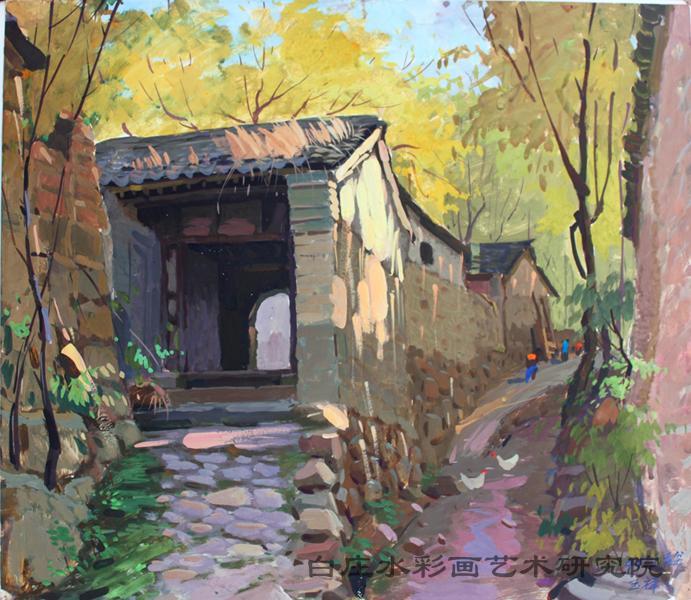 风景2(水粉) - 画家村